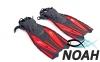 Ласты с открытой пяткой Zelart ZP-451 для плавания, цвет красный