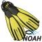 Ласты Mares Avanti Quattro + с открытой пяткой для плавания, цвет желтый