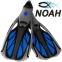 Ласты с закрытой пяткой Zelart ZP-444 для плавания, цвет синий